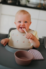 Silicone Baby Bib - Cherries