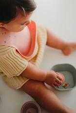 Silicone Baby Bib - Powder Pink Confetti