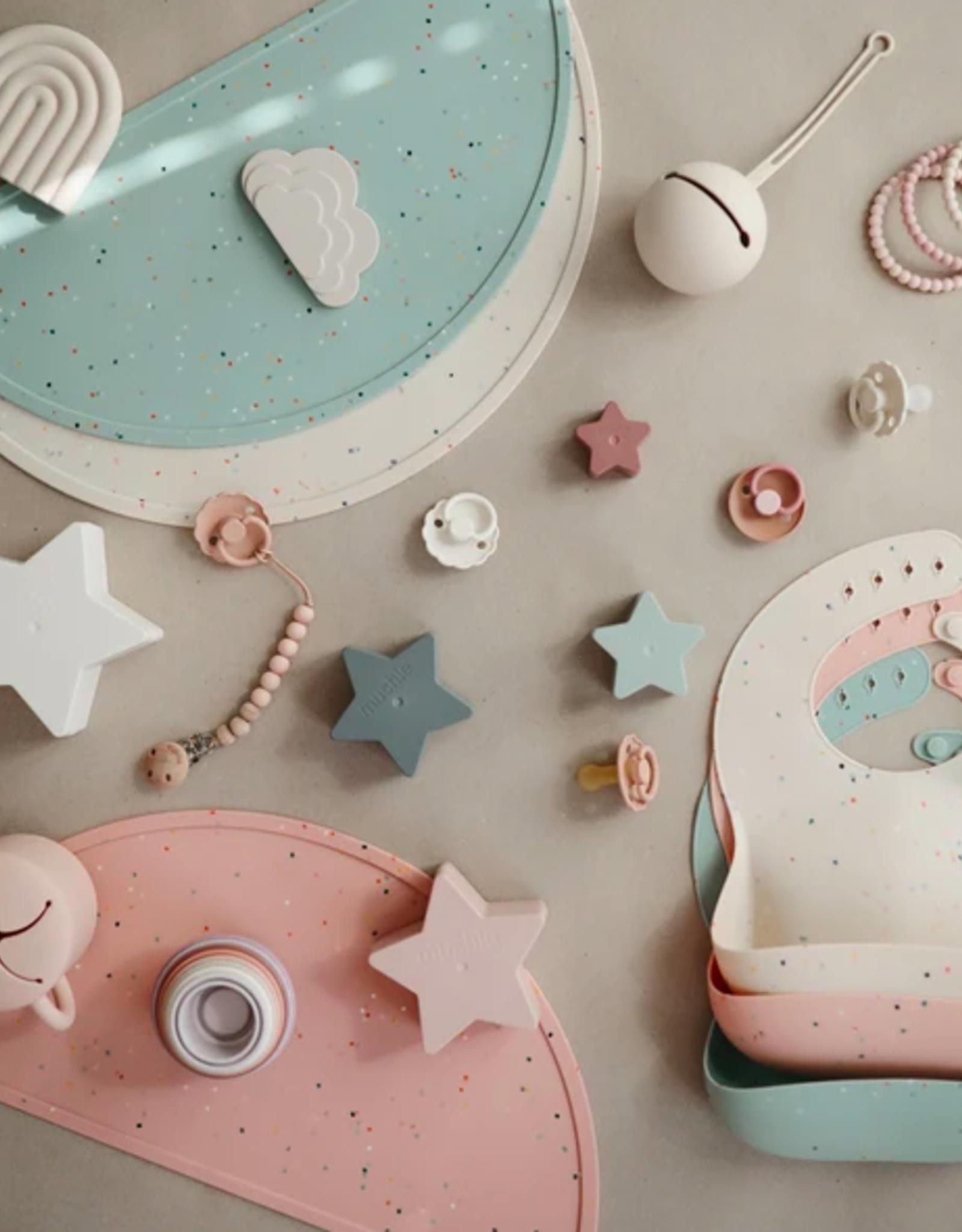 Silicone Place Mat - Powder Pink Confetti