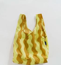 Standard Baggu - Yellow and Gold Wavy Stripe