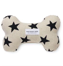 Black Stars Dog Bone Squeaky Toy