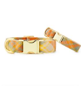 Harvest Plaid Flannel Dog Collar