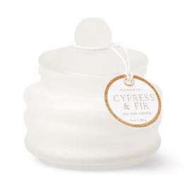 Cypress & Fir Frosted White Mini Candle