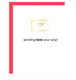 Sending Love Your Way Letter Paper Clip Card