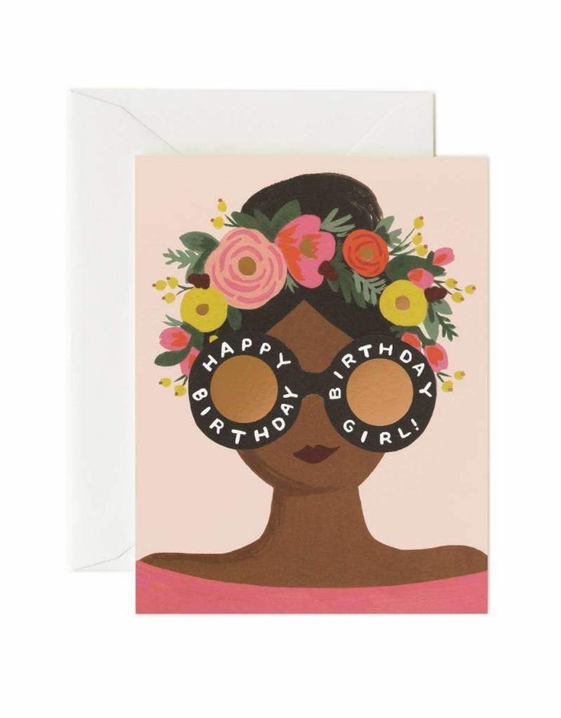 Flower Crown Birthday Girl Card