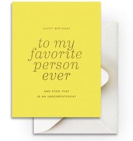 Favorite Person Birthday Card