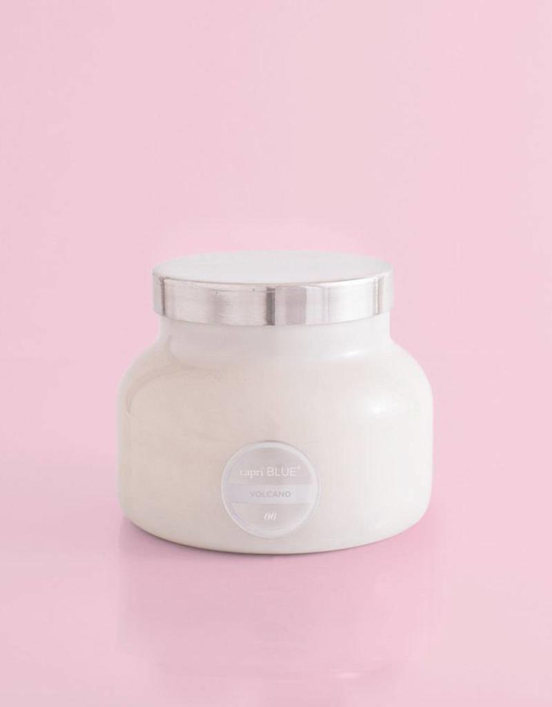 Volcano Candle - White Jar