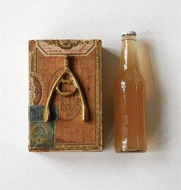 Gold Wishbone Bottle Opener