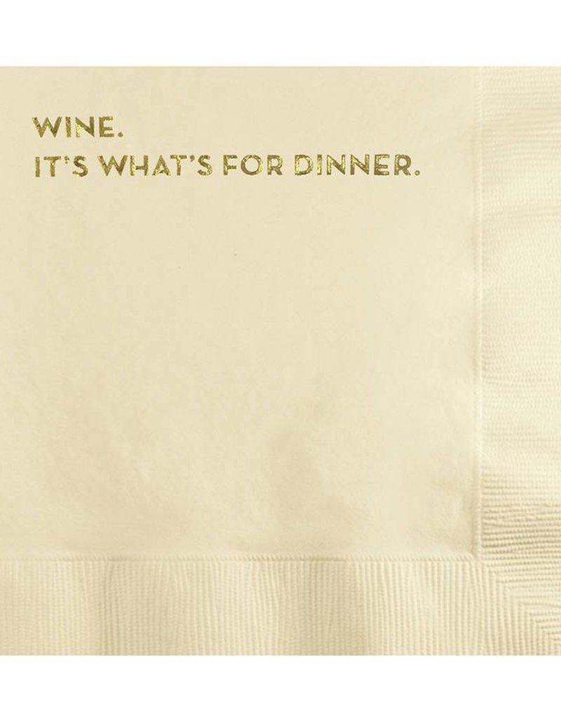 Wine for Dinner Napkins
