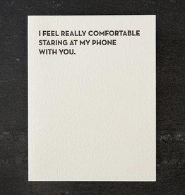 Staring at My Phone Card