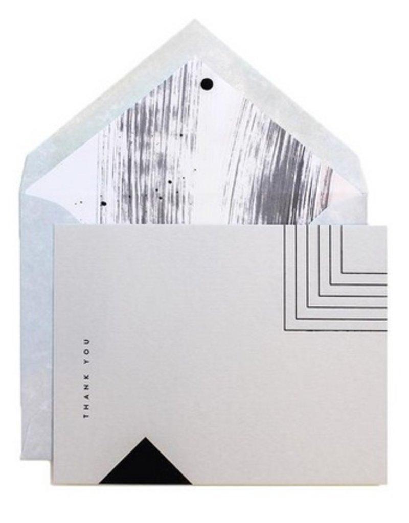 Black Geo Thank You Card