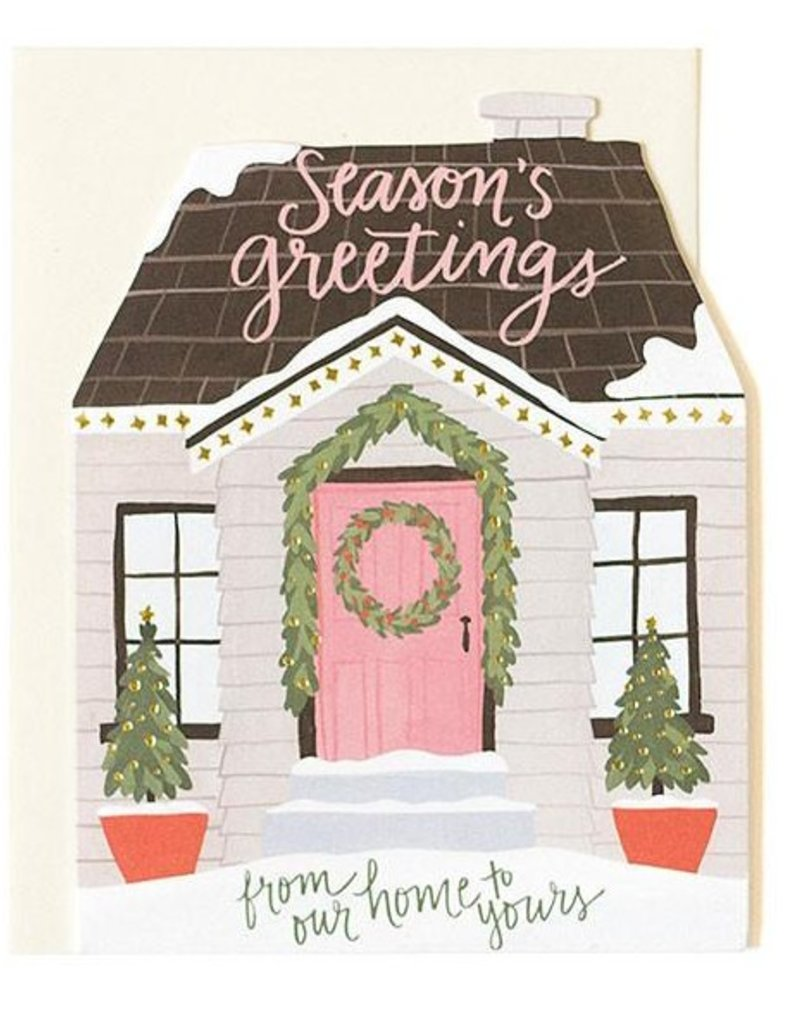 OneCanoeTwo Holiday House Cutout Card