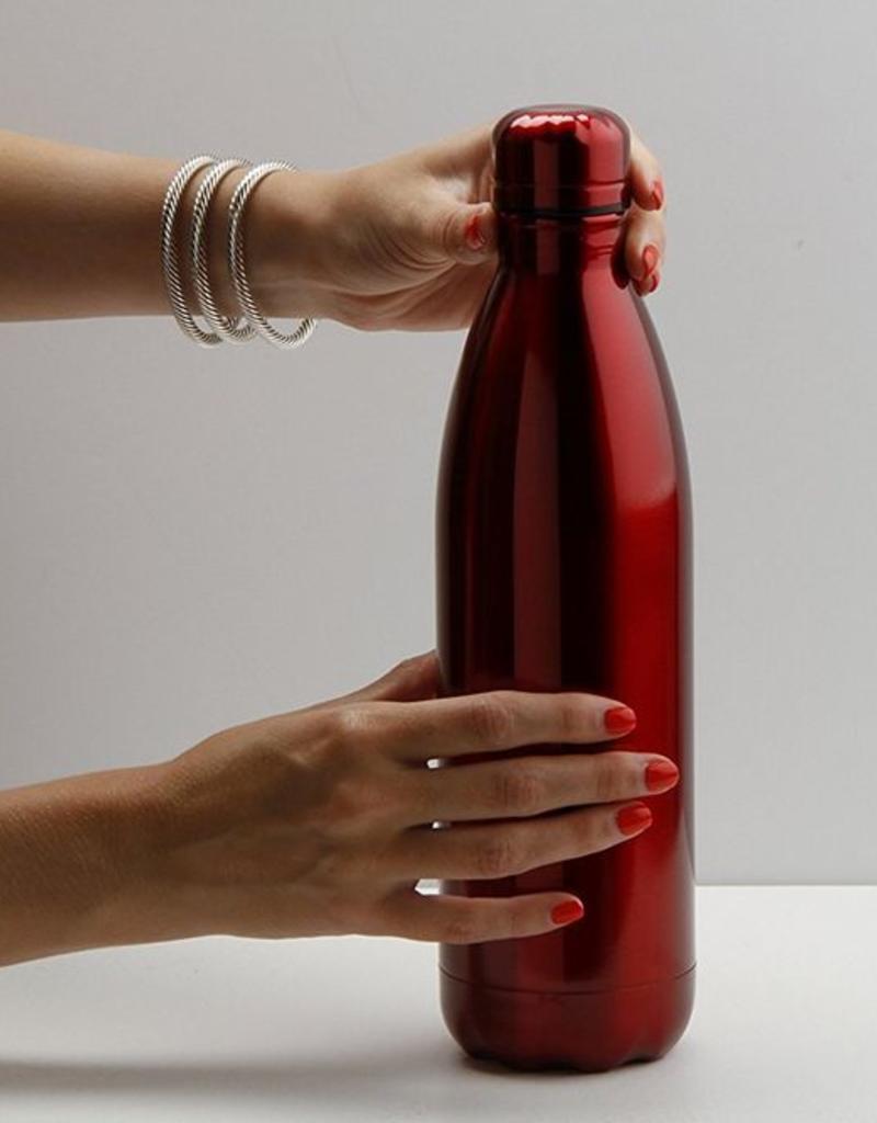 25 oz. Metallic Stainless Steel Bottle - Red