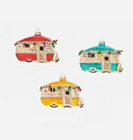 Happy Camper Ornament - Yellow