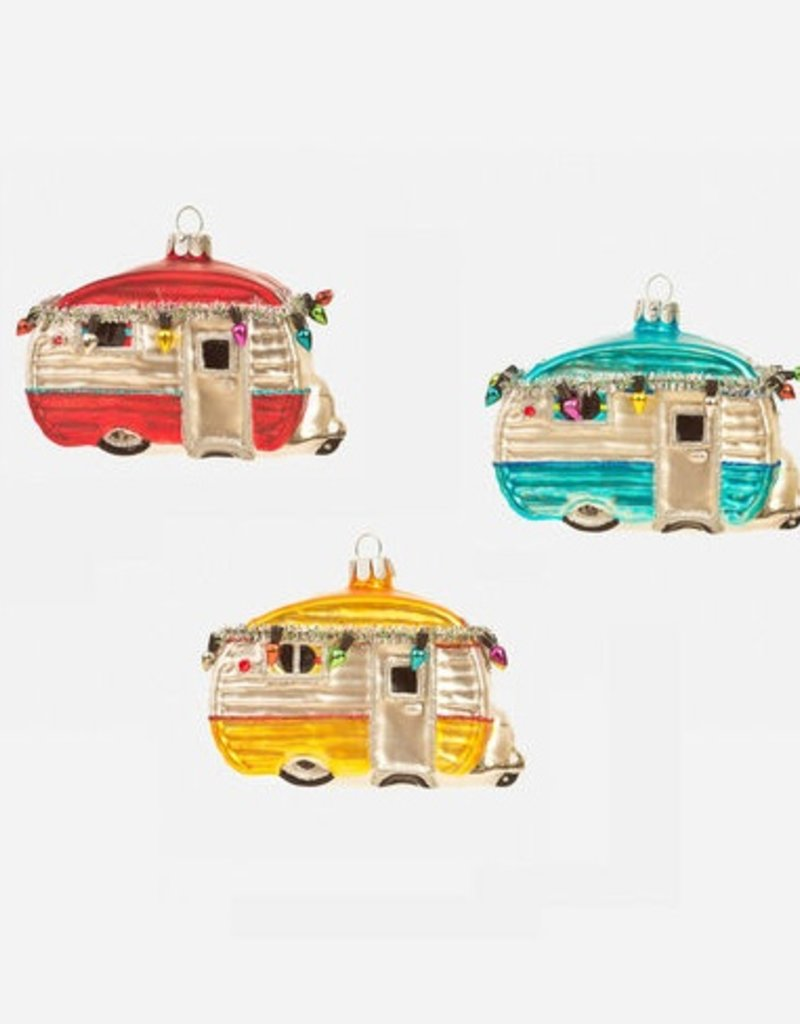Happy Camper Ornament - Yellow