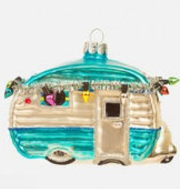 Happy Camper Ornament - Teal