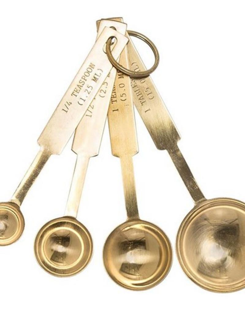 Gold Stainless Steel Measuring Spoons - Set of 4