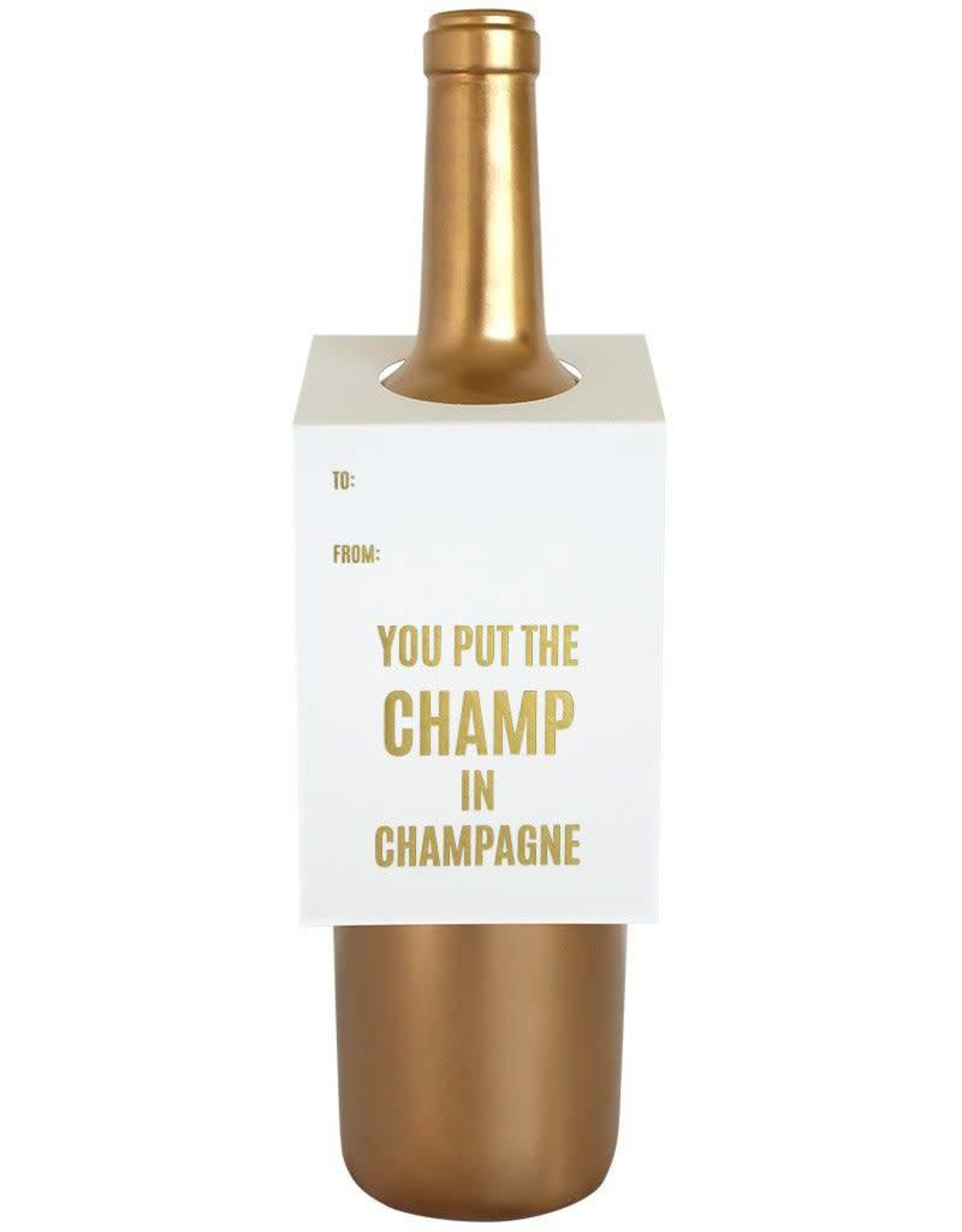 Champ in Champagne Wine & Spirit Tag