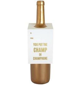 Champ in Champagne Wine & Spirit Tag