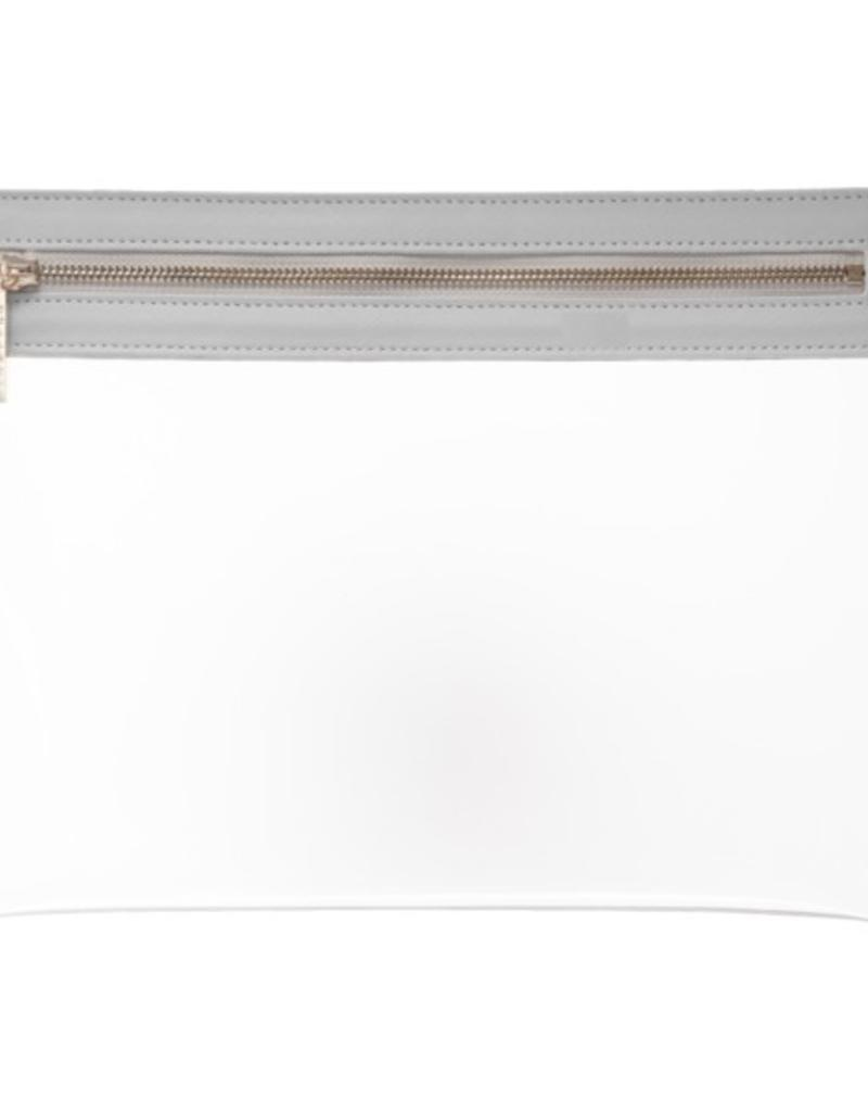 Clarity Clutch Large - Dove Grey