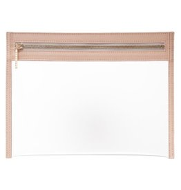 Clarity Clutch Large - Dusty Blush