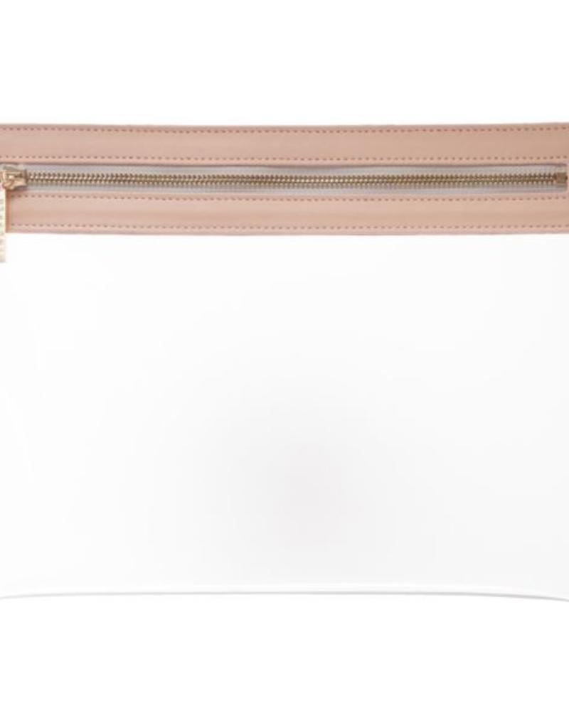 Clarity Clutch Large - Dusty Blush
