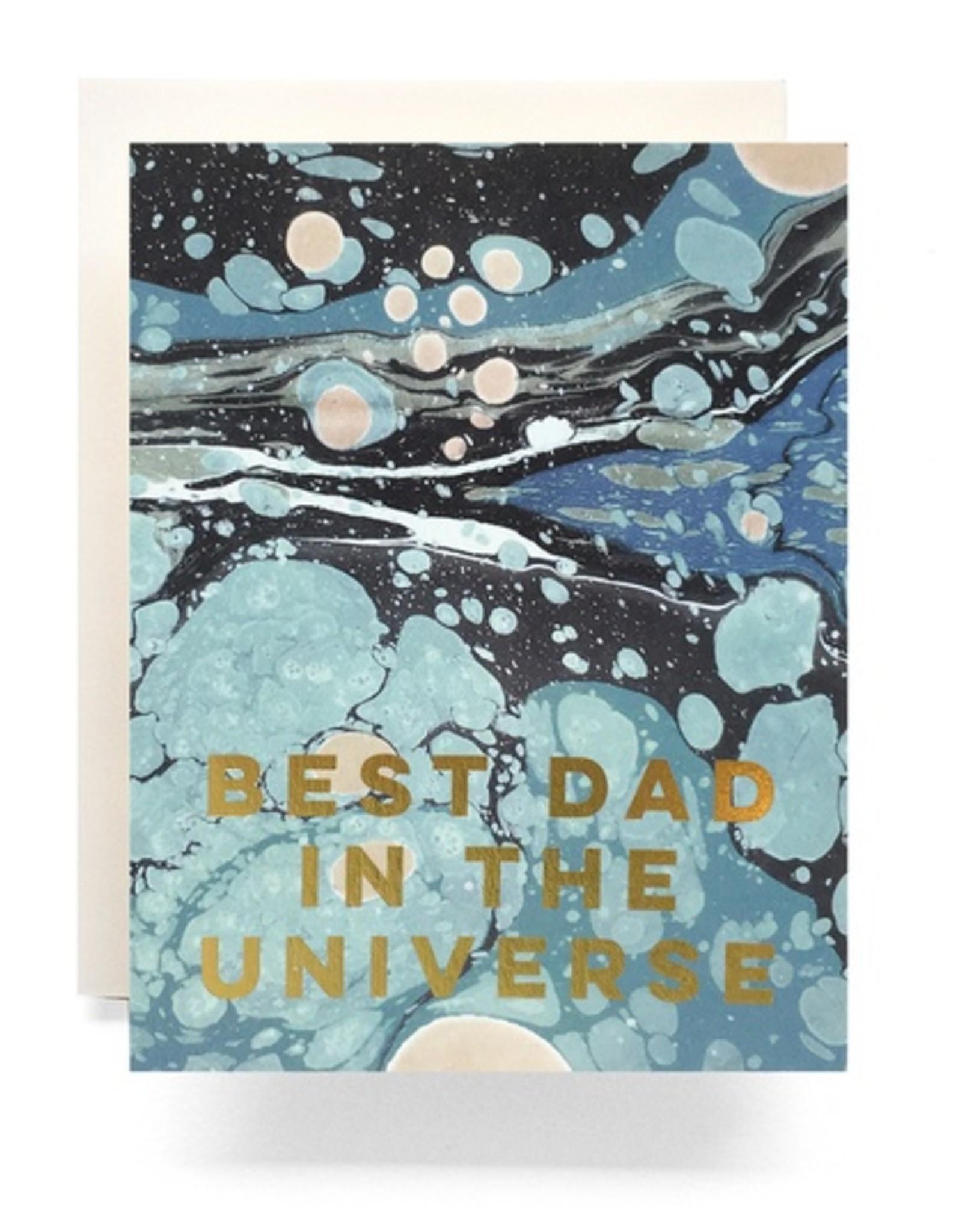 Marble Best Dad Card