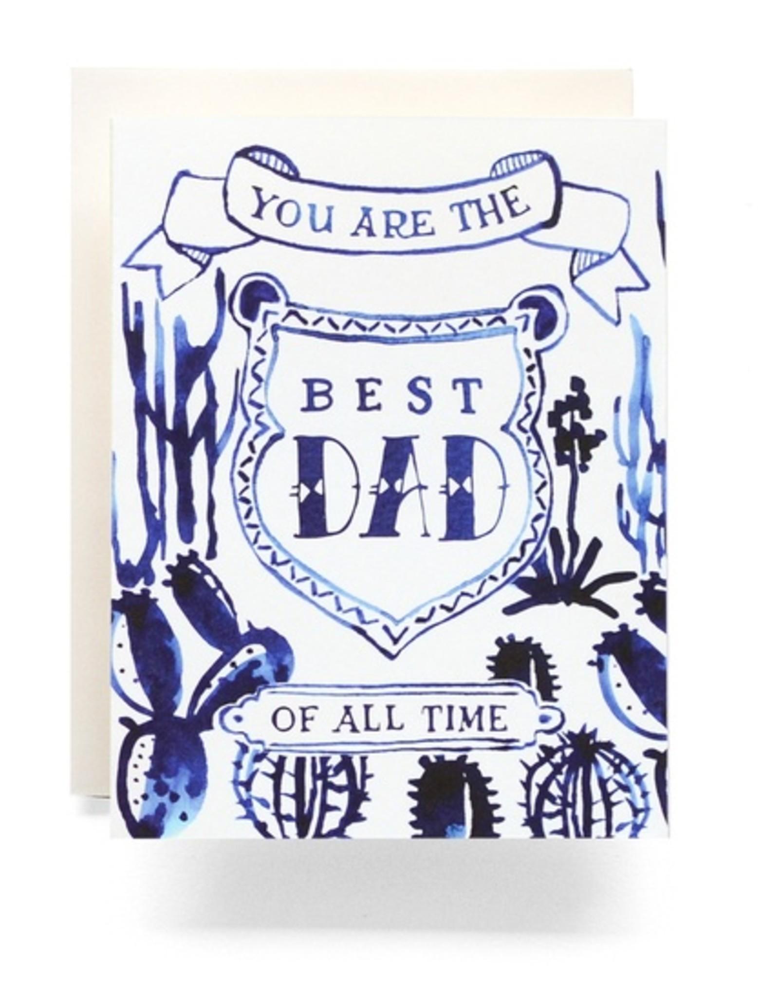 Indigo Cactus Dad Card