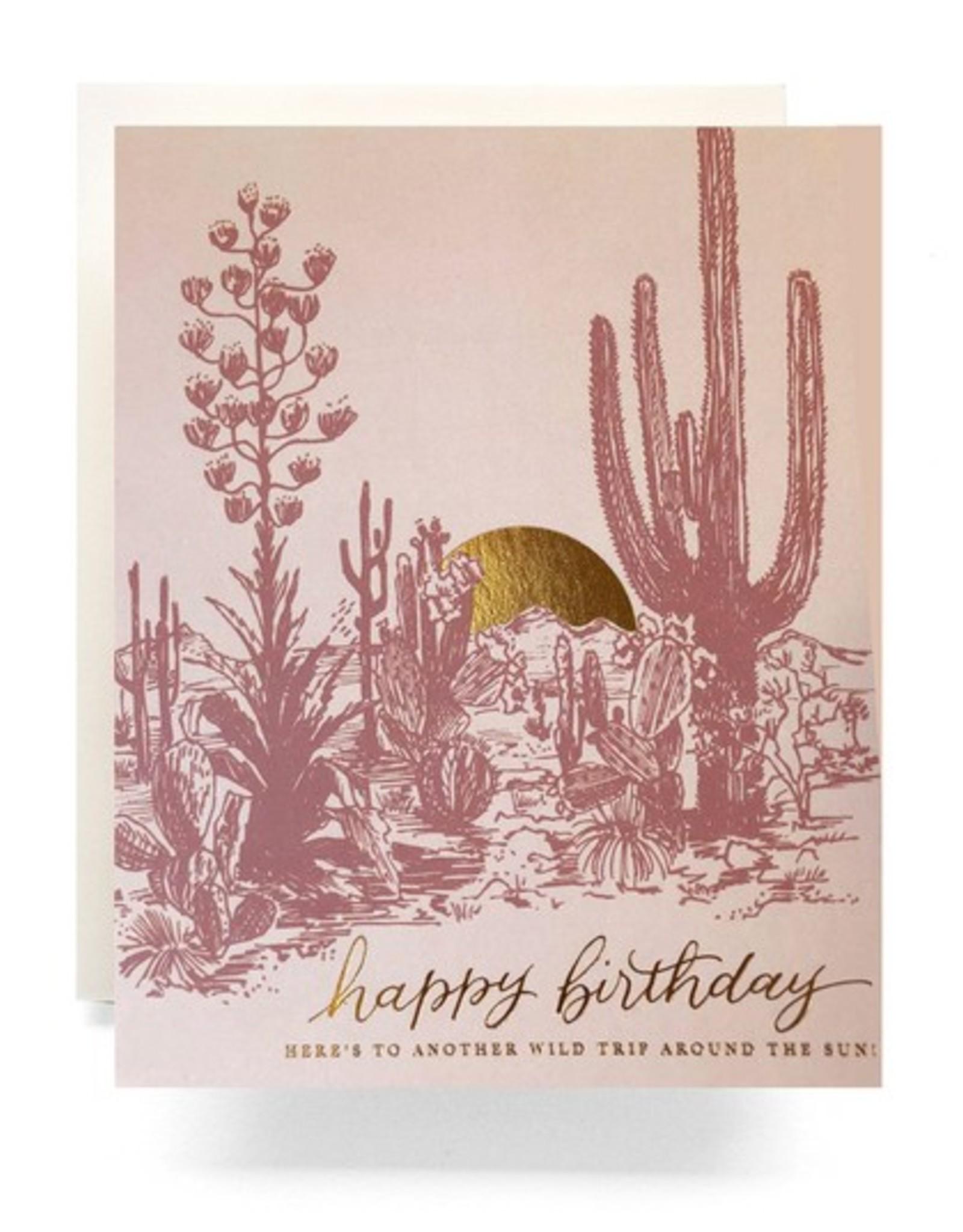 Cactus Sunset Birthday Card