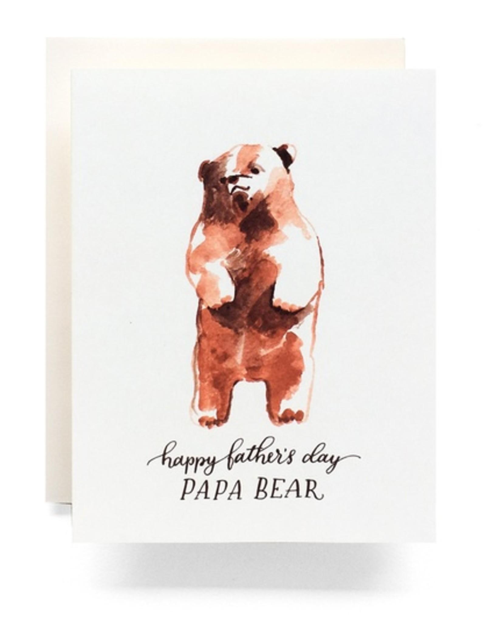 Papa Bear Fathers Day Card