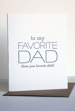 Favorite Dad, Favorite Child Card