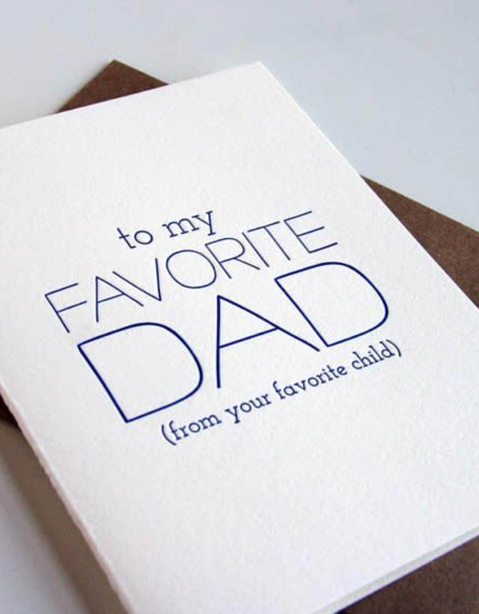 Favorite Dad, Favorite Child Card