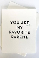 Favorite Parent Card