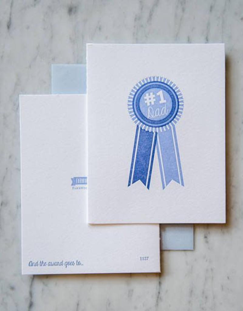 #1 Dad Blue Ribbon Card