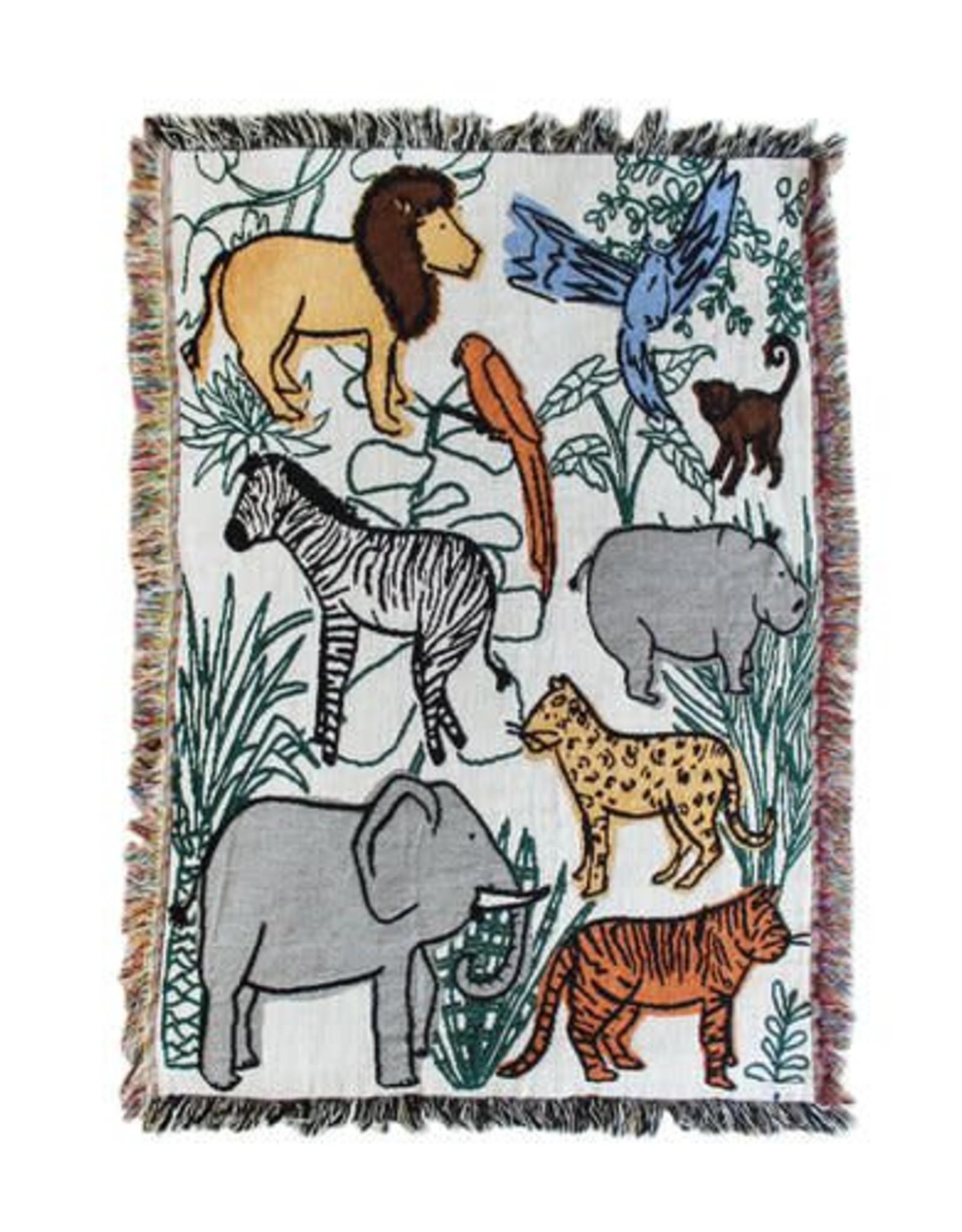 Into the Jungle Mini Blanket