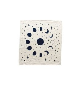Moon Phases Tea Towel - Navy