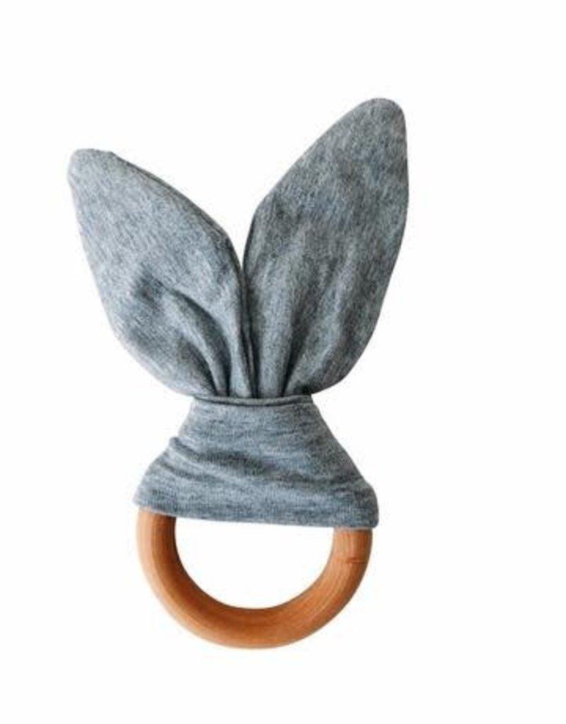 Crinkle Bunny Ears Teether - Grey