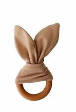 Crinkle Bunny Ears Teether - Camel