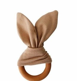 Crinkle Bunny Ears Teether - Camel