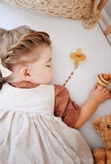 Hayes Silicone + Wood Teether Toy - Terra Cotta