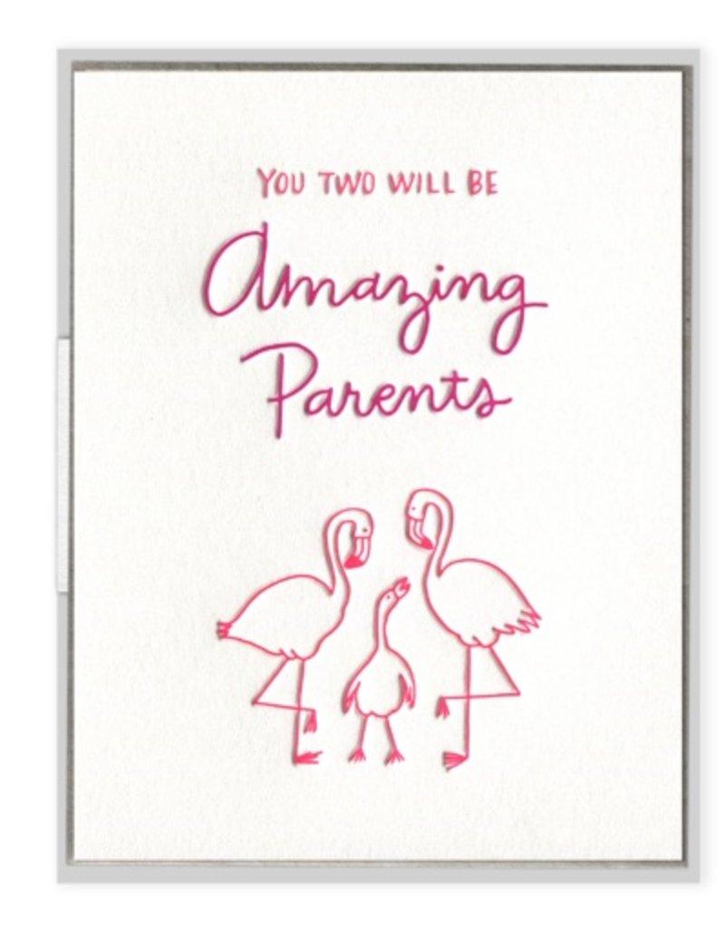 Flamingo Parents Card
