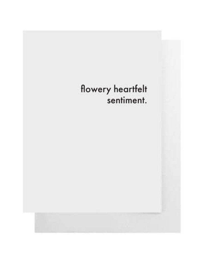 Flowery Heartfelt Sentiment Card