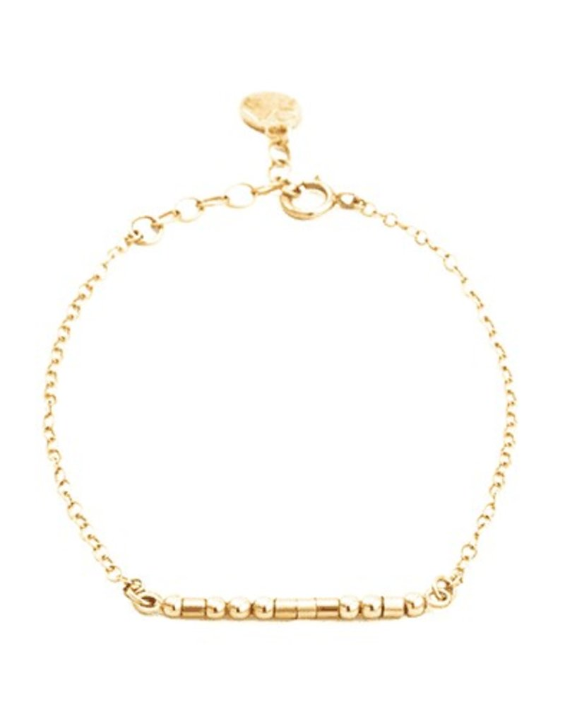 BFF Morse Code Bracelet - Gold Filled