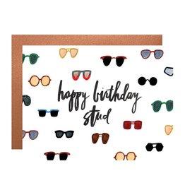 Happy Birthday Stud Card