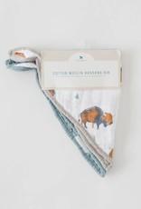 Cotton Muslin Bandana Bib 2 pack - Bison Set