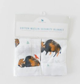 Cotton Muslin Security Blanket 2 Pack - Bison