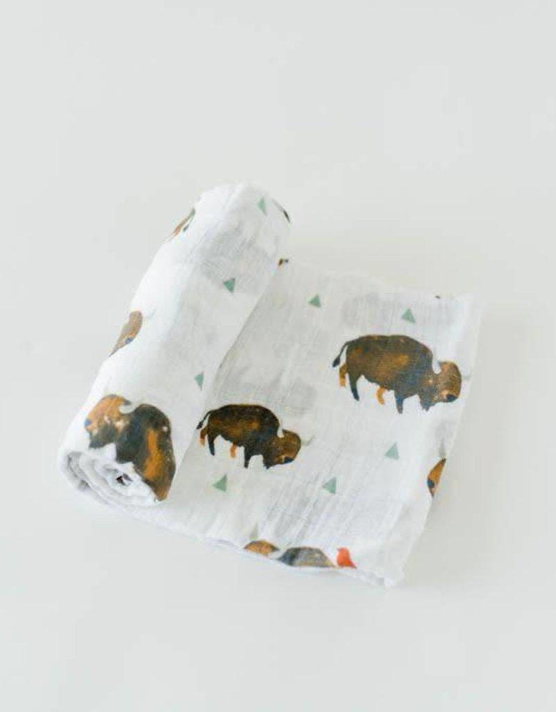 Cotton Muslin Swaddle Single - Bison