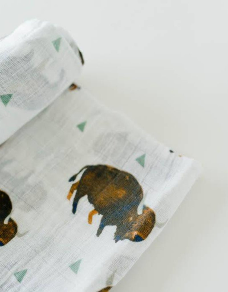 Cotton Muslin Swaddle Single - Bison