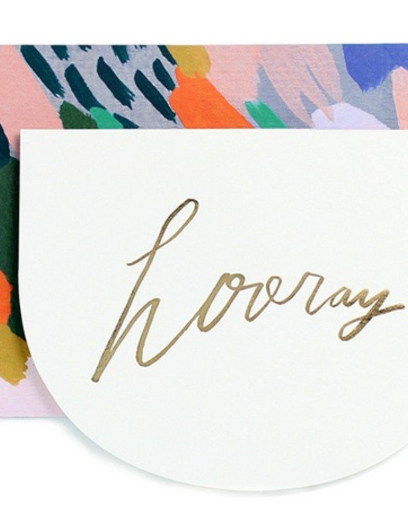 Hooray Crescent Card