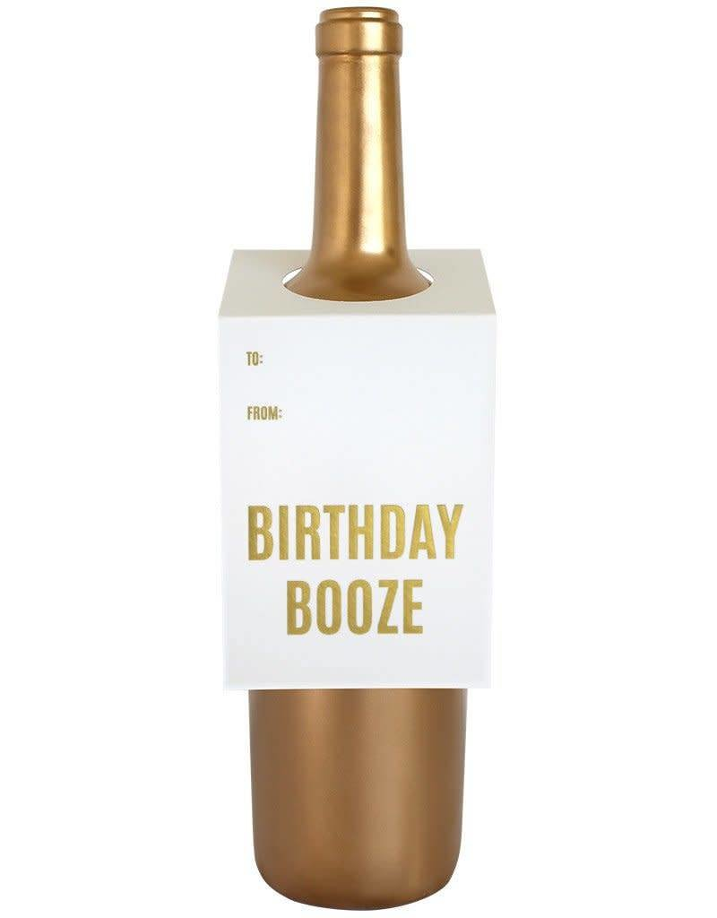 Birthday Booze Wine Tag - Single